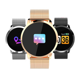 2019 bluetooth di q8 Newwear Q8 Smart Watch Schermo a colori oliato Smart Electronics Smartwatch Fashion Fitness Tracker Frequenza cardiaca Bluetooth Uomo Uomo Donna T190704 bluetooth di q8 economici