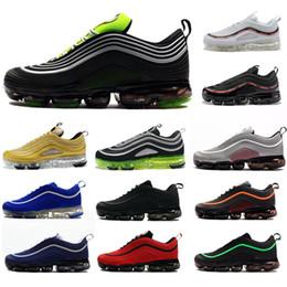 separation shoes 086e3 3d6e1 2019 New Brand 97 Scarpe da corsa Air Cushion Vivid Sulphur Sean Uomo Donna  Multicolor Top 97s Blue Hybrid Sports chaussures sneakers 40-46