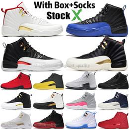 sapatos de asa para homens Desconto Barato 12 12s FIBA CNY Bumblebee Tênis de basquete para homens Jogo de táxi reverso Royal Blue Gym Asas vermelhas Cinza homens sports sports sneakers designer