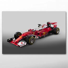 2019 impressões de fórmula DIY emoldurado Pinturas Ferraris SF16-H Fórmula 1 Race Sport Car Posters Canvas Wall Art Prints para Living Room Decor desconto impressões de fórmula