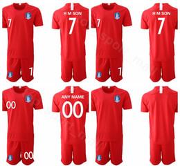 2019 fußball-kit-nummern 2019 2020 Südkorea Fußball Trikot Roter Sohn Heung-min Lee Yong HMSON YHGO Fußball Trikot Kits Uniform Name günstig fußball-kit-nummern