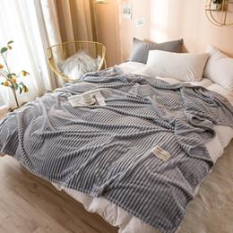 Yatakta Bonenjoy Gri Ekose Battaniye Tek Kraliçe Kral Pazen Mercan Polar Battaniye Yataklar için Yumuşak Sıcak kuvertür de yaktı nereden