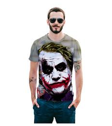 2019 huellas feas Hombres 19ss camisetas de diseñador de verano en 3D Payaso feo camiseta impresa camisetas de manga corta Tops huellas feas baratos