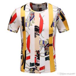 Fiore notizie online-Novità Plus size 3XL T-Shirt da Uomo Estate Harajuku 3d Gold Flower Luxury Stampa T-Shirt Unisex Sexy O-Collo Barocco Royal Noble Abbigliamento