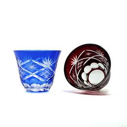 2019 óculos de champanhe de strass Bohemian Czech ruby red Cortar para Clear shot Óculos saquê taça licor de vidro