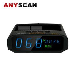 сигналы тревоги привода Скидка AUTOOL X100S GPS автомобильный Солнечный цифровой метр GPS HUD KM / H MPH спидометр превышение скорости сигнализации Высота вождения компьютер дисплей