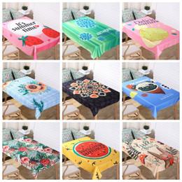 2019 toalha de crochet quadrada Toalha de mesa À Prova D 'Água Poliéster Toalha De Mesa Padrão Nórdico Início Capas de Mesa Retangular Pano de Mesa Limpe Cobre 37 Projetos Opcionais YW2861