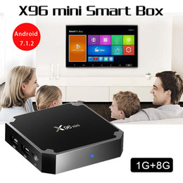 mx tv box quad core Promotion X96 Mini Android 7.1.2 Tv Box Quad Core 1GB 8GB Amlogic S905W 17.6 Lecteur multimédia intelligent Mxq Pro Boxes 50PCS