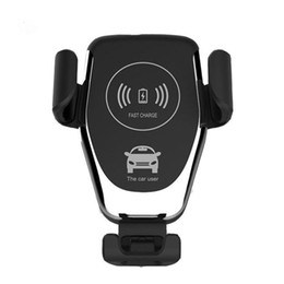 Wholesale Chargers - Qi Wireless Charger For iPhone X XR XS Max 8 Plus 10W Fast Wireless Car Charger Charging Pad For Samsung S9 S8 Car Holder Charger