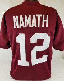 Cheap custom Joe Namath Crimson College Style Football Jersey Size 3XL Customized  Any name number Stitched Jersey XS-5XL discount style football jersey 80fa35ce0
