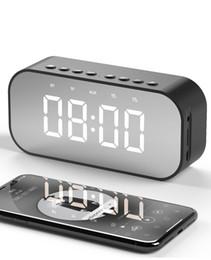 Lettore mp3 specchio online-Altoparlante a specchio BT501D Altoparlante a specchio Bluetooth 5.0 Mini cassetta audio stereo Altoparlante Hif Lettore per lettore musicale MP3 TF per iPhone Xiaomi