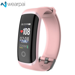 sicurezza internet Sconti Wearpai Fitness Tracker M4 Blood Pressure Smart braccialetto cardiofrequenzimetro Sport Smartwatch per uomini e donne impermeabile Ip67 J190521