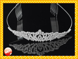 girls tiaras for wedding Promo Codes - 2019 Modest Bridal Accessories wedding Headpieces Tiaras Free Shipping Cheap Designer Adult Junior Girls Tiaras For Prom Party