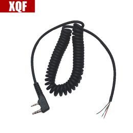 XQF DIY 4 telli w kablo için mikrofon kablosu K fiş 2 pins baofeng puxing linton tyt quansheng walkie talkie nereden