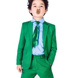 Yeni 2020 Yeşil Çocuklar Örgün Düğün Blazers Çentikli Yaka Little Boy Suit Çocuklar Düğün / Balo takım elbise 2pieces Düğün Smokin (ceket + pantolon) nereden