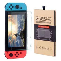 Canada Pour Nintendo Switch Film de protection d'écran en verre trempé 2.5D 9H Premium 2 Pack avec emballage de vente au détail Offre