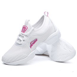 women jazz shoes Promo Codes - Hot Sale-Women Jazz Fitness Shoes Female Sneakers Breathable Hip Hop Height Soft Lightweight Vogue Shoes Mama