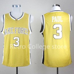 e0547cc4c #3 Chris Paul Wake Forest College Basketball Jersey Stitched Custom any  Number and name XS-6XL vest Jerseys NCAA