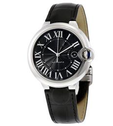 Новый автоматический мужской 42 мм корпус из нержавеющей стали черный кожаный ремешок часы WSBB0003 высокого качества с коробкой от