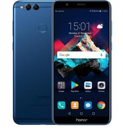2019 caméra de recul bluetooth android Huawei Honor 7X 4GB 64 / 128GB 8MP + 16MP Double caméras arrière 3340mAh 5.93 pouces 2160 * 1080P Full View Screen Fingerprint caméra de recul bluetooth android pas cher