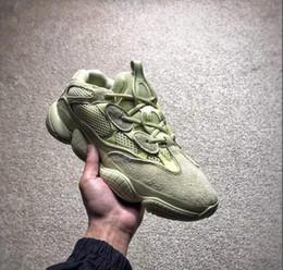 2ae3598494 Venta caliente 2018 500 Blush Desert Rat Kanye West Wave Runner 500  Zapatillas de deporte Zapatos Papá Diseñador Atlético Tenis Zapatillas de  deporte de ...