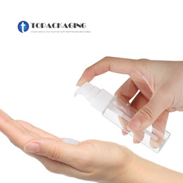 2019 15 ml de tampões de garrafa de vidro em âmbar 50 PCS * 30 ML Loção Bomba Garrafa PET Container Cosméticos De Plástico Pequeno Óleo Essencial Maquiagem Embalagem Vazio Shampoo Garrafas Recarregáveis
