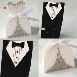 noivo de noiva de papel Desconto Noivo e noiva caixas de doces de papel casar com caixas de doces presentes da festa de casamento moda 0 14wo UU