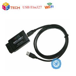 50 unids precio de Fábrica ELM327 Wifi Escáner USB Wi-Fi ELM 327 OBDII Escáner de Interfaz de Diagnóstico de Coche Funciona Con Todo el Protocolo OBD-II desde fabricantes