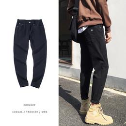 117e981e5c 2019 Frühjahr neue koreanische Version der Männer von Chic Denim Hose  Herren Slim Feet Jeans blau / schwarz / dunkelgrau 28-34 günstig männer  koreanische ...