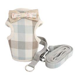 Deutschland Retro Plaid Weste Kleine Hundegeschirre Katzenhunde Halfter Harness Lead Cloth Brustgurt Für Hunde 6044028 Pet Puppy Supplies Versorgung