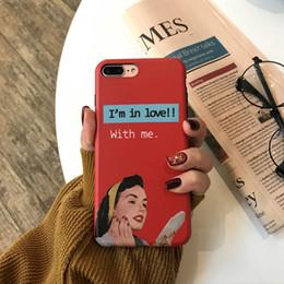 Amerikanisches mädchen telefon online-Wenden Sie Apple XS Max / xr-Handy-Shell auf europäische und amerikanische Personality Girls an, IPhone 8plus / 7 / 6s Full Package Soft Shell