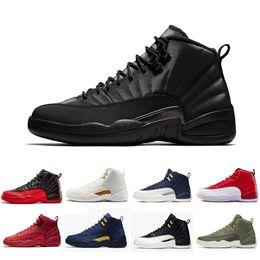 look for 61c95 29e4d Nike Air Jordan 12 Jordans 12s Retro Michigan 12 Vachetta Tan 12s College  Navy Männer Basketball Schuhe Stiere UNC Grippe Spiel der Meister schwarz  weiß ...