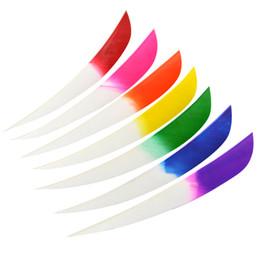 penas de peru flechas Desconto Tiro com arco de 3 polegada Turquia Seta Pena Asas Direitas Para Recurvo Arco Composto Caça Tiro Vanes Outdoor Sports Archery Acessórios colorido