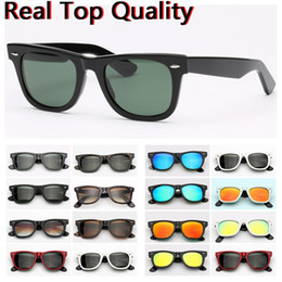 Ray sonnenbrille online-Designer Sonnenbrillen Ray Marke Farer Modell 2140 Acetat Rahmen echte UV400 Glaslinsen Sonnenbrillen Original Ledertasche Pakete alles!