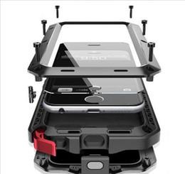 nagelneuer wasserdichter telefonkasten Rabatt Brand New Waterproof Dropproof Dirtproof Shockproof Telefonkasten für iPhone 4 4s 5 5s 5c 6 6s 4.7 plus zurück Metallabdeckung