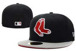 Новая Мода Новый Бостон Красный В Полном Черном Цвете Установлены Плоские Шляпы sox Вышитые Закрытые Шапки Chapeu Хип-Хоп Дизайн от