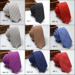 мужские аксессуары для галстуков Скидка 6 см Саржа галстук мужские классические галстуки формальный свадебный бизнес красный фиолетовый синий полоса галстук для мужчин аксессуары галстук жениха хлопок галстуки