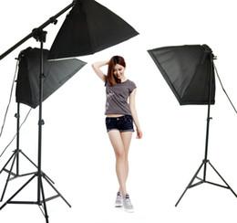 2019 armausleger stehen 3x 50x70cm Softbox + 3x 45W Lampe + 3x 2m Lichtstativ + obenliegender Lichtarm für Fotostudio-Portraits, Fotografieren günstig armausleger stehen
