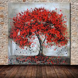 Grandi quadri ad albero online-Mintura Art Large Size Dipinto a mano Albero della vita Dipinti ad olio su tela Quadri astratti moderni Arte della parete Soggiorno Decorazione della casa