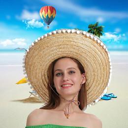 Mexikanische frauenhüte online-2019 Frauen-Sommer-Hut Mode Einfache mexikanischen Strohhut Karneval Crazy Night Halloween-Abendkleid-Partei-Hüte