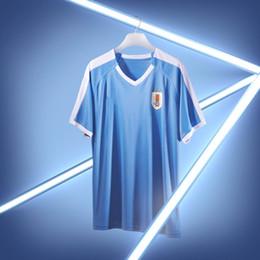Maglie uruguay online-2019 Uruguay Nazionale a casa blu via bianco Soccer Maglie 19/20 # 3 D.GODIN # 9 L.SUAREZ Uomini Maglie di calcio Camicie da calcio personalizzate