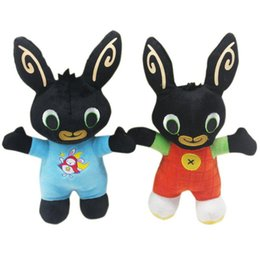 Cartoon soldato online-2019 Nuovo arrivo Bing Bunny Bunny Soldier Peluche Toy Dolls Custom Cartoon Rabbit Doll Giocattolo di Natale DHL all'ingrosso