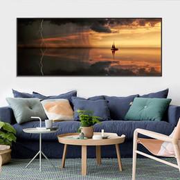 2019 quartos de pinturas abstratas Natureza Seascape Cartazes e Gravuras Da Arte Da Parede Da Lona Arte Da Arte Do Veleiro Decoração para Sala de estar Quarto Abstrata Pinturas desconto quartos de pinturas abstratas