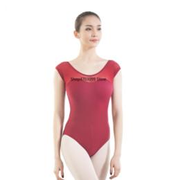 2019 blusa decote com capuz 2019 novos modelos collant mulheres cap luva de malha de malha leotard ballet adulto querida decote dance collant blusa decote com capuz barato