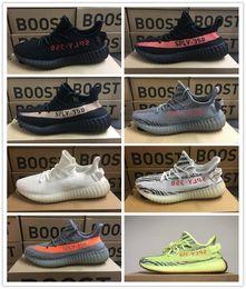 Argentina Adidas yeezy supreme 350 Nuevo mejor Beluga 2.0 Kanye West V2 tinte azul cebra Negro Blanco Hombres Mujeres 350 Zapatos ocasionales amarillos Suministro