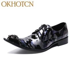 Мужская обувь онлайн-Factory Customized Mens Dressing Shoes Genuine Leather Metal Head Flats  Designer  Shoes Man Size Zapatillas Hombre