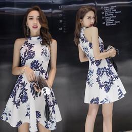 2019 estate cinese vestito migliore donne cotone lino qipao breve cheongsam sexy vestito una linea sexy cheongsam moderno senza maniche cheap modern linen dresses da abiti di lino moderni fornitori