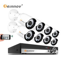 ip hdd Скидка Einnov 4-канальный 8-канальный 1080p видеорегистратор PoE видеонаблюдения IP-камера системы безопасности главная открытый комплект видеонаблюдения 2-мегапиксельная видео установить HD LED свет 1 ТБ HDD