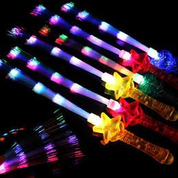оптоволоконная легкая игрушка Скидка LED Световой Зажгите Рождество Хэллоуин Игрушка водить Concert партия свет Stick Glow In The Dark Glow Fiber Optic Палочки для партии T191031
