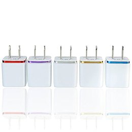 En Kaliteli 5 V 2.1 + 1A Çift USB AC Seyahat ABD Duvar Şarj Fişi Çift Şarj Samsung Galaxy HTC Için Akıllı Telefon Adaptörü nereden ac usb adaptörü 5v 1a tedarikçiler